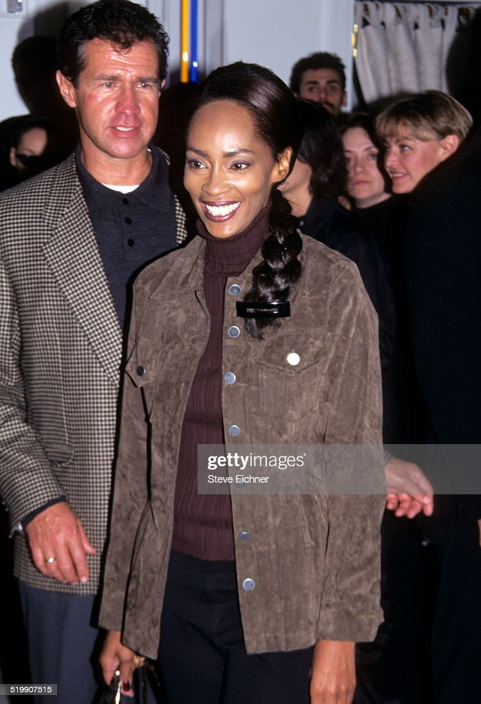 Jody Watley at the opening of the Versace store New York October 26 1996