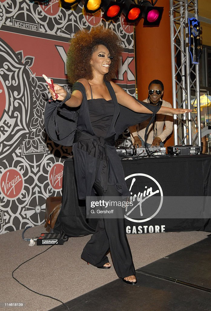 Jody Watley during Virgin Megastore Union Square Celebrates the Release of Jody Watley's New CD 'The Makeover' With A Live Performance and QA Session...