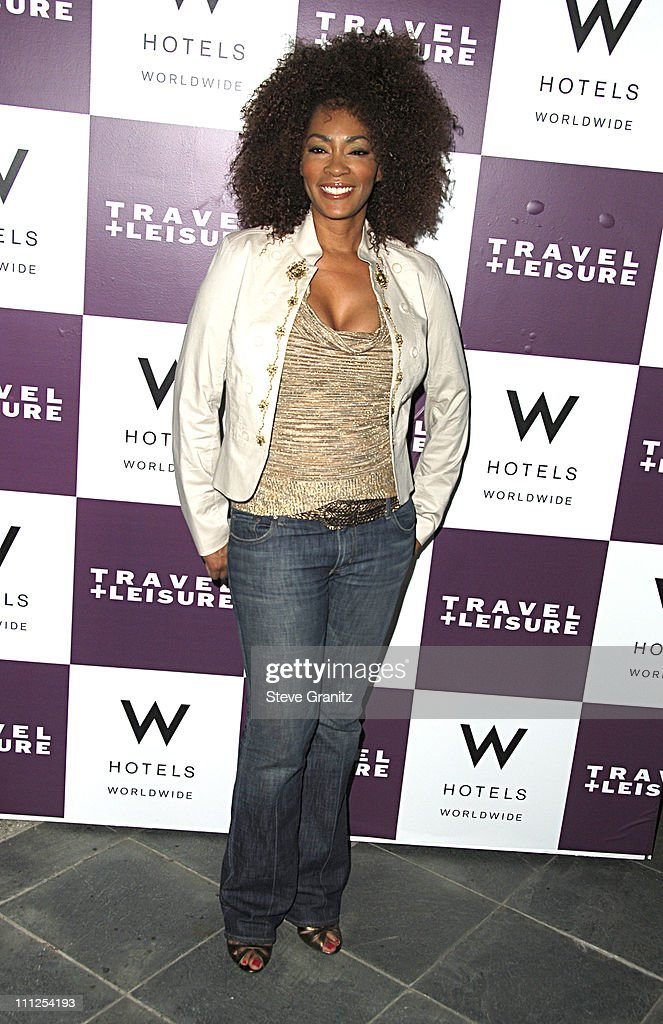 Jody Watley wearing Cache during Travel Leisure Magazine Celebrates 35th Birthday Arrivals at W Hotel Los Angeles in Westwood California United States