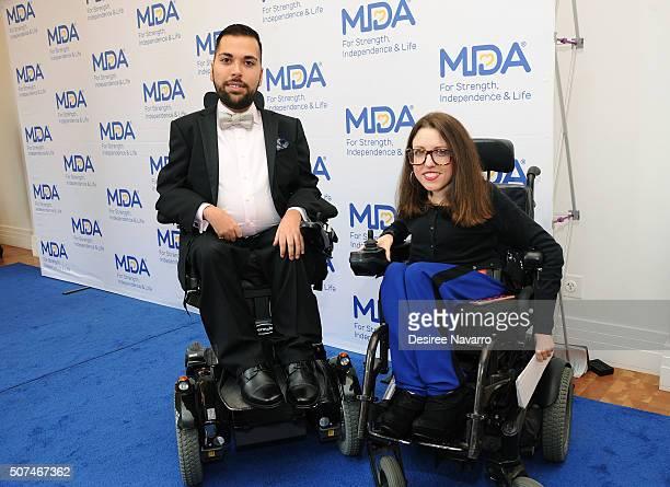 Joe Akmakjian MDA's 2016 National Goodwill Ambassador and Shannon DeVido attend the Muscular Dystrophy Association Funding Announcement at Carnegie...