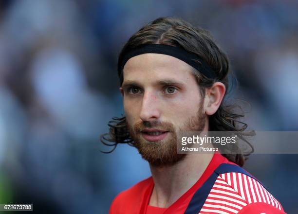Joe Allen of Stoke City enters the tunnel after warming up during the Premier League match between Swansea City and Stoke City at The Liberty Stadium...