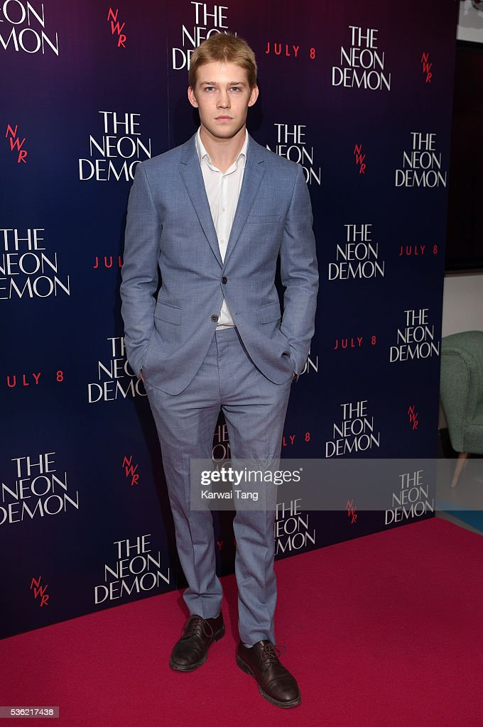 Joe Alwyn arrives for the UK Premiere of The Neon Demon at the Picturehouse Central on May 31, 2016 in London, United Kingdom.