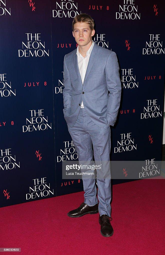 Joe Alwyn arrives for the UK Premiere of The Neon Demon on May 31, 2016 in London, United Kingdom.