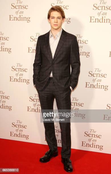 Joe Alwyn attends the Gala screening of 'The Sense of an Ending' at Picturehouse Central on April 6 2017 in London England