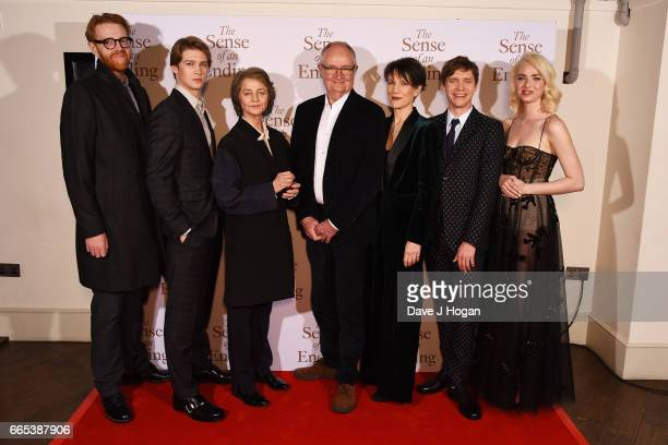 Joe Alwyn Charlotte Rampling Jim Broadbent Harriet Walter Billy Howle and Freya Mavor attend 'The Sense of an Ending' UK gala screening on April 6...