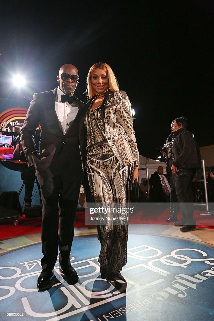 Joe and Tamar Braxton attend 2014 Soul Train Music Awards on November 7 2014 in Las Vegas Nevada