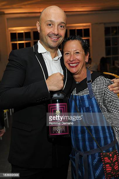Joe Bastianich and Nancy Silverton attend the Alex's Lemonade Stand event at Industria Superstudio on October 8 2013 in New York City
