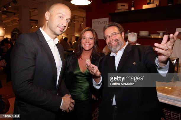 Joe Bastianich Diane Henderiks and Drew Nieporent attend Epicurious 15th Anniversary Dinner at Eataly on September 29 2010 in New York