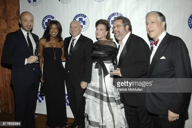 Joe Bastianich Lori Stokes Tom Colicchio Sharyn Mann Drew Nieporent and Todd Slotkin attend The 13th Annual FOOD ALLERGY Ball at The Waldorf Astoria...