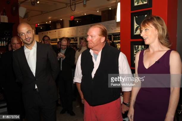 Joe Bastianich Mario Batali and Tanya Steel attend Epicurious 15th Anniversary Dinner at Eataly on September 29 2010 in New York