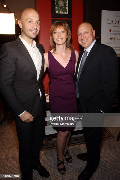 Joe Bastianich Tanya Steel and Tom Colicchio attend Epicurious 15th Anniversary Dinner at Eataly on September 29 2010 in New York