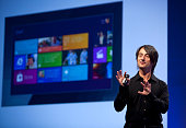 Joe Belfiore Corporate Vice President Microsoft previews new features of Windows Phone 8 during the Microsoft Windows Phone Summit in San Francisco...