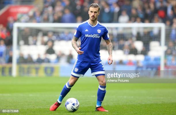 Joe Bennett of Cardiff City during the Sky Bet Championship match between Cardiff City and Ipswich Town at The Cardiff City Stadium on March 18 2017...