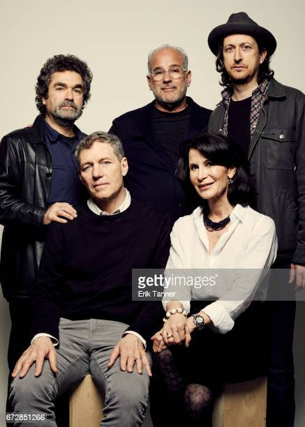 Joe Berlinger Jon Kamen Michael Bonfiglio Sidney Beaumont and Katherine Oliver from 'From the Ashes' pose at the 2017 Tribeca Film Festival portrait...