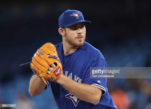 Joe Biagini of the Toronto Blue Jays delivers a pitch in the sixth inning during MLB game action against the Seattle Mariners at Rogers Centre on May...