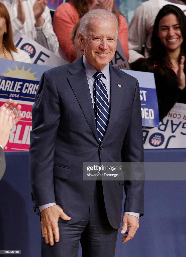 Joe Biden is seen at the Latino Victory Project Rally at Florida International University on November 2, 2014 in Miami, Florida.