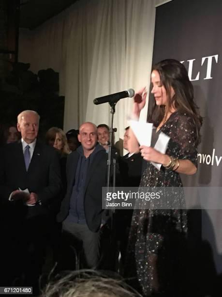 Joe Biden Jonathan Greller and Ashley Biden circa February 2017 in New York City