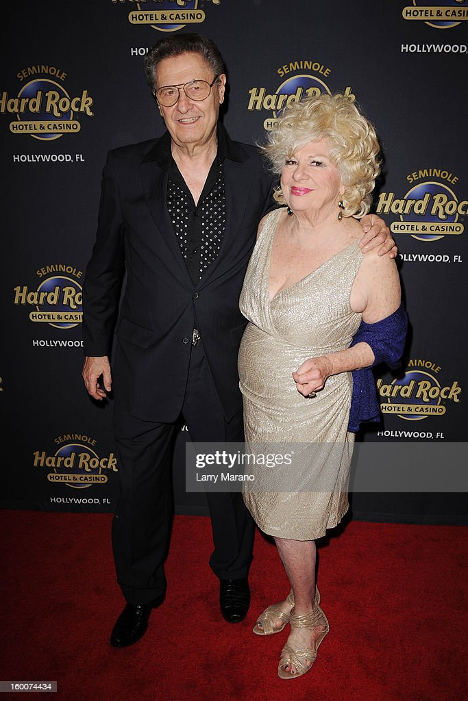 Joe Bologna and Renee Taylor attend Footlighters Club Roast of Sal Richards at Hard Rock Live! in the Seminole Hard Rock Hotel & Casino on January 25, 2013 in Hollywood, Florida.