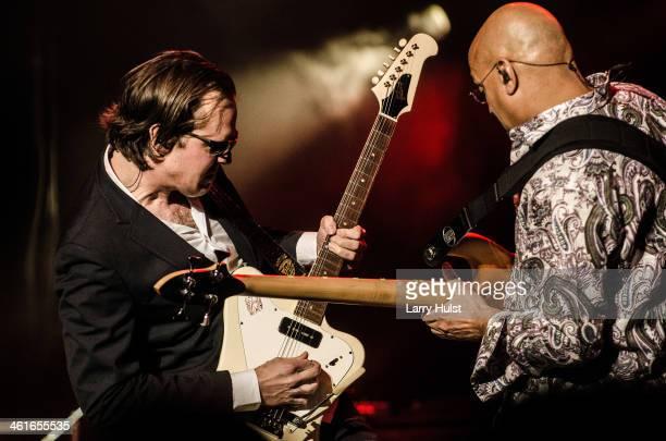 Joe Bonamassa and Carmine Rojas performing with 'The Joe Bonamassa Group' at the Bellco Theater in Denver Colorado on April 23 2013