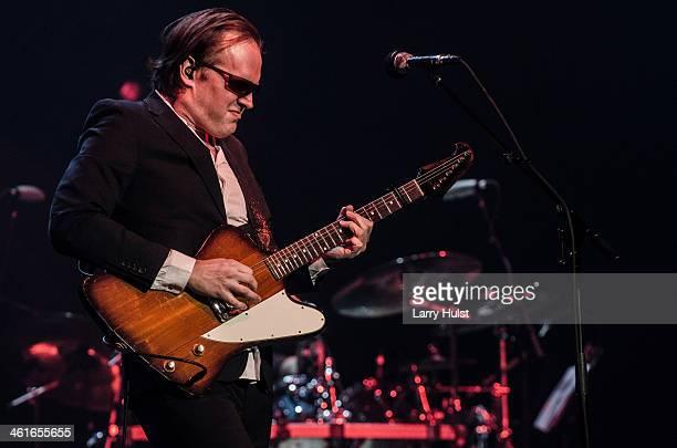 Joe Bonamassa performing at the Bellco Theaterin Denver Colorado on April 23 2013
