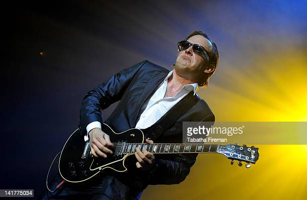 Joe Bonamassa performs on stage at Brighton Centre on March 23 2012 in Brighton United Kingdom