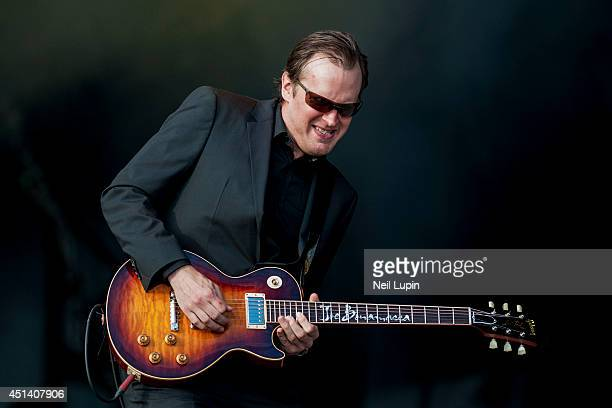 Joe Bonamassa performs on stage at Calling Festival at Clapham Common on June 28 2014 in London United Kingdom