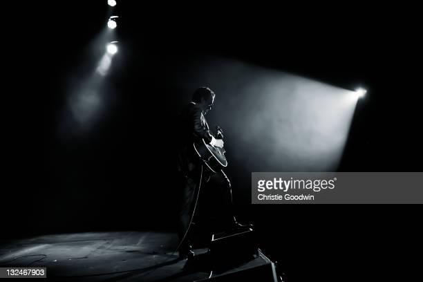 Joe Bonamassa performs on stage at Hammersmith Apollo on October 21 2011 in London UK
