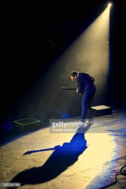 Joe Bonamassa performs on stage at Hammersmith Apollo on October 22 2011 in London England