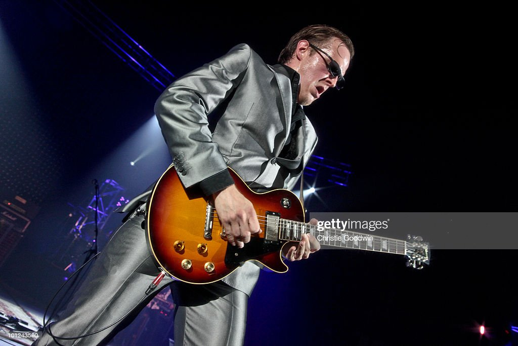 Joe Bonamasssa performs on stage at Hammersmith Apollo on May 28, 2010 in London, England.