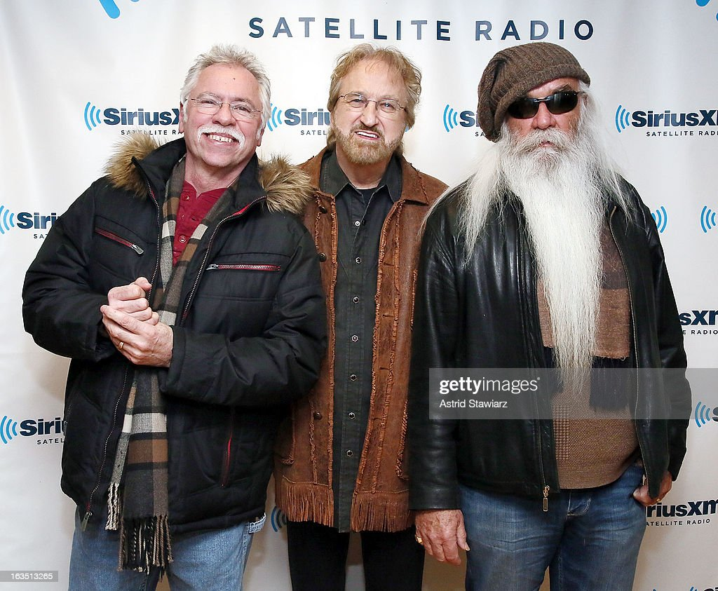 Joe Bonsall, Duane Allen and <a gi-track='captionPersonalityLinkClicked' href=/galleries/search?phrase=William+Lee+Golden&family=editorial&specificpeople=1184482 ng-click='$event.stopPropagation()'>William Lee Golden</a> of the country music group 'The Oak Ridge Boys' visit the SiriusXM studios on March 11, 2013 in New York City.