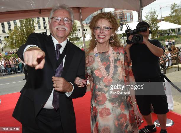 Joe Bonsall of The Oak Ridge Boys and Mary Bonsall attend the Medallion Ceremony to celebrate 2017 hall of fame inductees Alan Jackson Jerry Reed And...