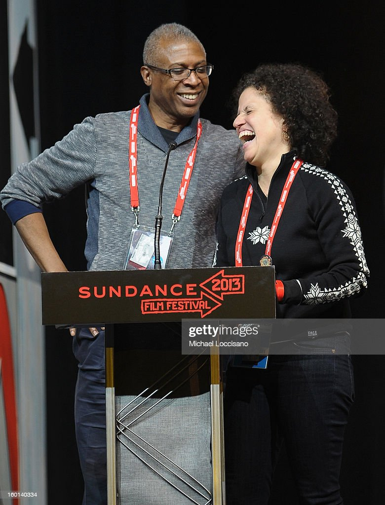 Joe Brewster and Michèle Stephenson accept the Winner of the U.S. Documentary Special Jury Award for American Promise onstage at the Awards Night Ceremony during the 2013 Sundance Film Festival at Basin Recreation Field House on January 26, 2013 in Park City, Utah.