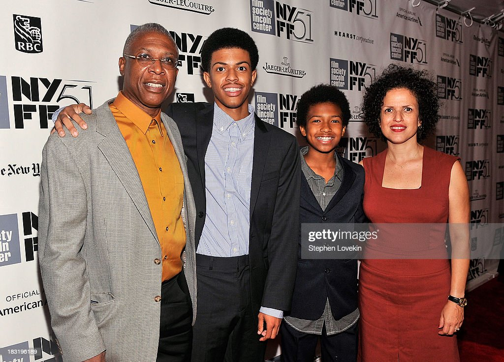 Joe Brewster, Idris Brewster, Miles Brewster and Michele Stephenson attend the Centerpiece Gala Presentation Of 'The Secret Life Of Walter Mitty' during the 51st New York Film Festival at Alice Tully Hall at Lincoln Center on October 5, 2013 in New York City.