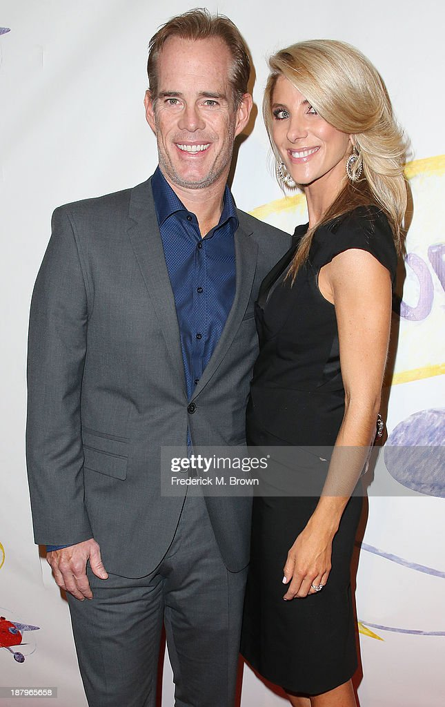 Joe Buck (L) and his guest attend the 'Stand Up For Gus' Benefit at Bootsy Bellows on November 13, 2013 in West Hollywood, California.