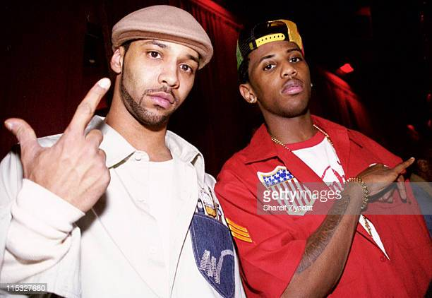 Joe Budden and Fabolous during Party at Show at Show in New York City New York United States