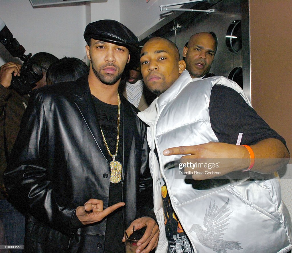 Joe Budden and Fuse VJ Dennis Da Menace during Ice T and Coco Host Smooth Magazine Cover Party at Boulevard January 22 2007 at Boulevard in New York...