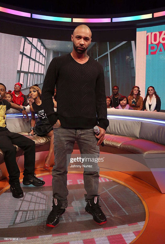 Joe Budden visits BET's '106 & Park' at BET Studios on February 5, 2013 in New York City.