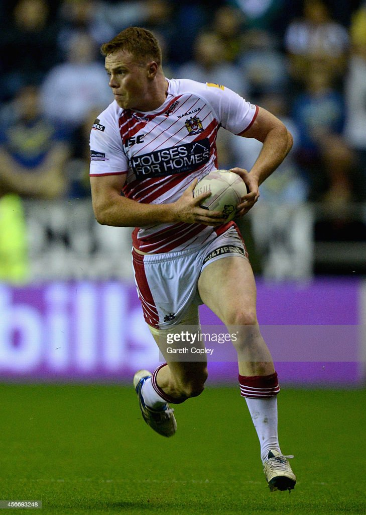 Joe Burgess of Wigan Warriors during the First Utility Super League Qualifying SemiFinal match between Wigan Warriors and Warrington Wolves at DW...