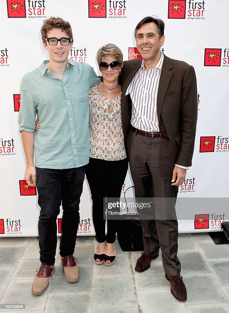 Joe Calabrese (R) and family attend the 9th annual First Star Celebration of children's rights at Skirball Cultural Center on May 5, 2013 in Los Angeles, California.