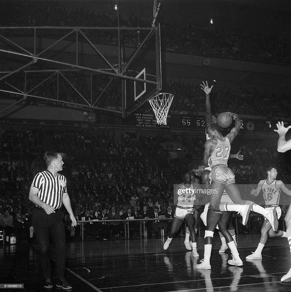 Walt Bellamy and Joe Caldwell During NBA Game
