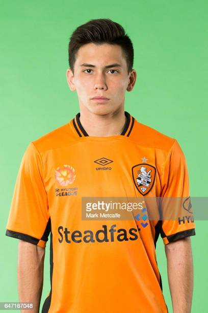 Joe Caletti of the Roar poses during the Brisbane Roar ALeague headshots session at Fox Studios on September 21 2016 in Sydney Australia