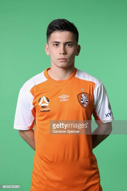 Joe Caletti poses during the Brisbane Roar 2017/18 ALeague Headshots Session at Fox Sports Studios on September 15 2017 in Sydney Australia
