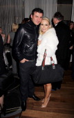 Joe Calzaghe and Kristina Rihanoff attend an after party celebrating the press night performance of 'Burn The Floor' at the Trafalgar Hotel on March...