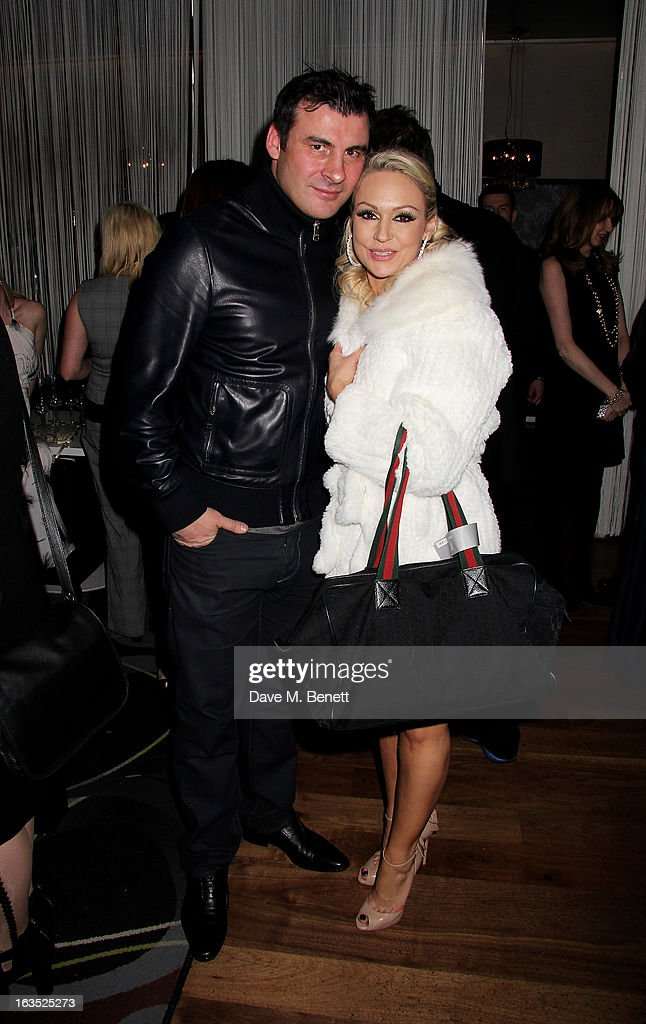 Joe Calzaghe (L) and Kristina Rihanoff attend an after party celebrating the press night performance of 'Burn The Floor' at the Trafalgar Hotel on March 11, 2013 in London, England.