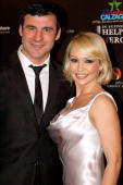 Joe Calzaghe and Kristina Rihanoff attend the Help For Heroes Gala dinner hosted by Joe Calzaghe at The Grosvenor House Hotel on March 22 2010 in...