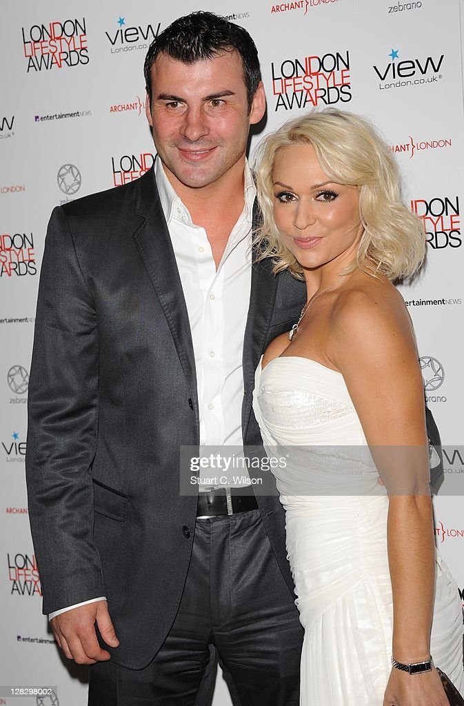 Joe Calzaghe (L) and Kristina Rihanoff attend the London Lifestyle Awards 2011 at Park Plaza Riverbank Hotel on October 6, 2011 in London, England.