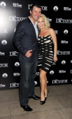 Joe Calzaghe and Kristina Rihanoff attend the World Premiere of 'The Dictator' at the Royal Festival Hall on May 10 2012 in London England