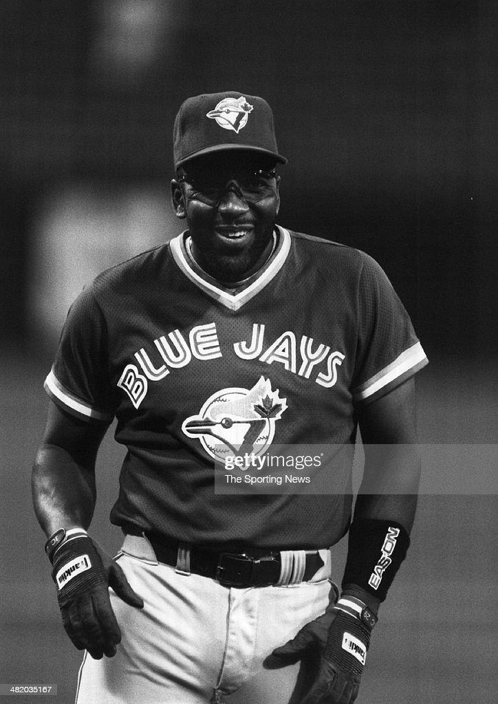 Joe Carter of the Toronto Blue Jays smiles circa 1990s.