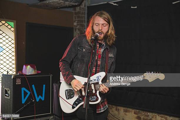Joe Clarke of Dead Naked Hippies perform at Headrow House on January 21 2017 in Leeds United Kingdom