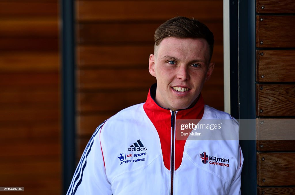 Joe Clarke of Great Britain poses for a portrait during the Team GB Canoe Slalom Olympic Media Day at the Lee Valley White Water Centre on May 05, 2016 in London, England.